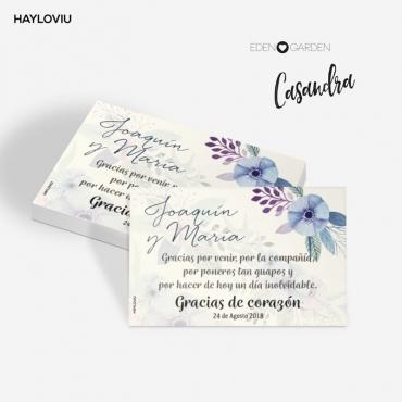 tarjeta agradecimiento HAYLOVIU casandra