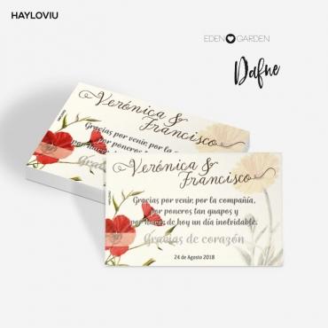 tarjeta agradecimiento HAYLOVIU dafne