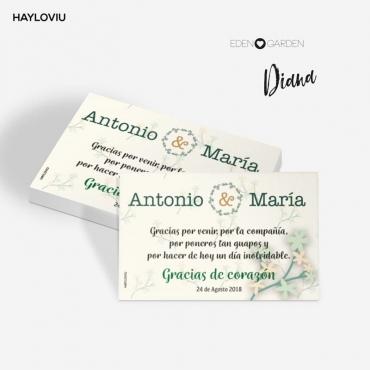 tarjeta agradecimiento HAYLOVIU diana