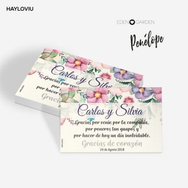 tarjeta agradecimiento HAYLOVIU penelope