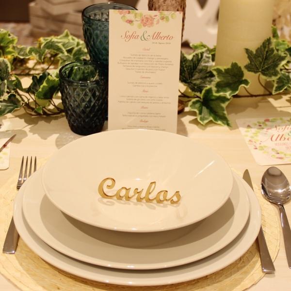 nombre oro mesa